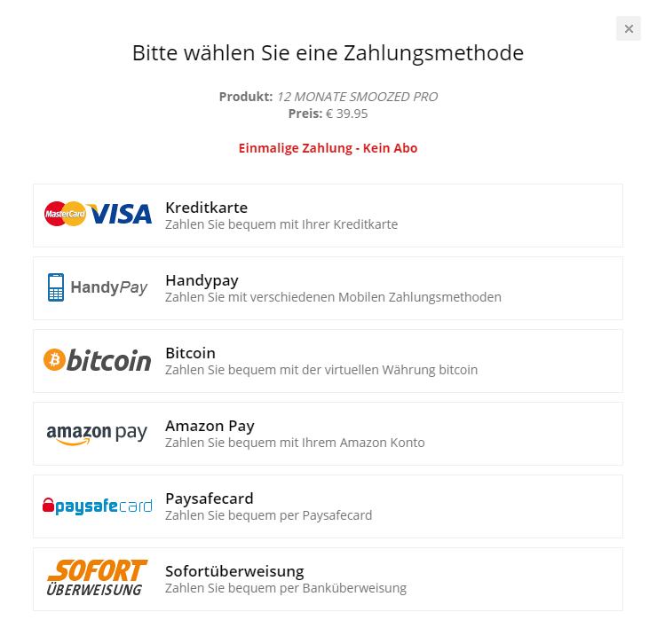 smoozed paysafecard paypal Zahlungsarten