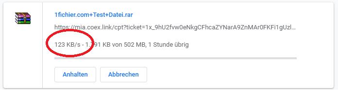 1flichier download speed test