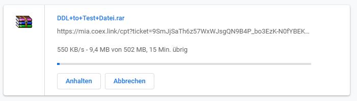 ddl-to hoster test geschwindigkeit download