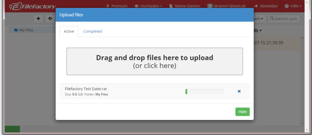 filefactory upload speed