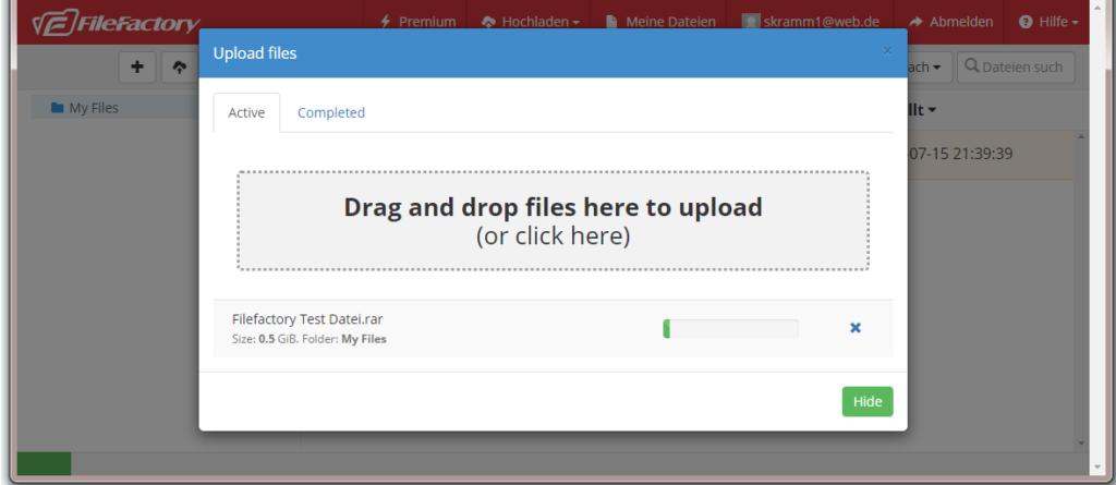 filefactory upload speed