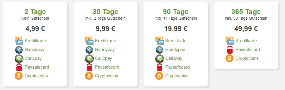 kosten filer.net premium Account