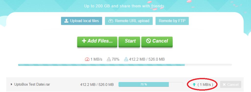 uptobox upload test